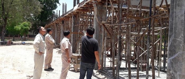 ตรวจการก่อสร้างอาคาร